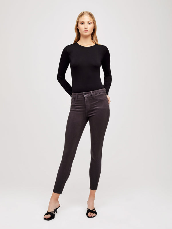 L'Agence - Margot H/R Skinny - Greystone Coated