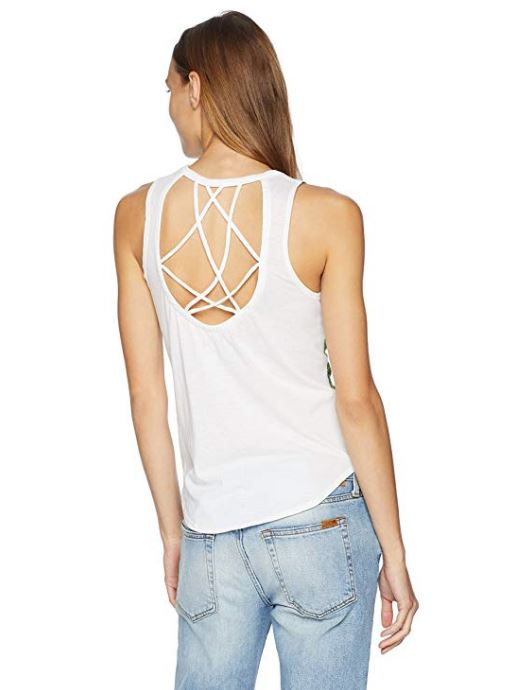 Chaser - Strappy Muscle Tank - White