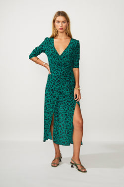 Suboo - Leopard Maxi Wrap Dress - Leopard Lights