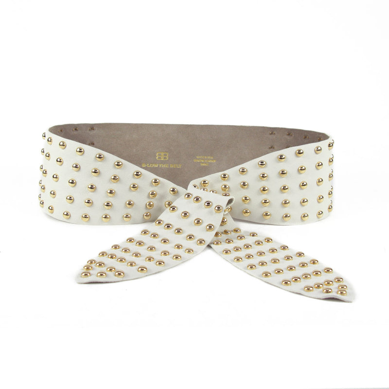 B-Low The Belt - Bella Studded - Pearl/Gold