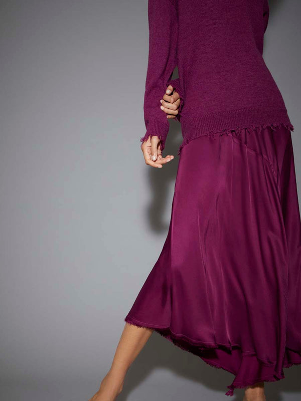 Nation LTD -GEORGETTE HANDKERCHIEF SKIRT - PLUM