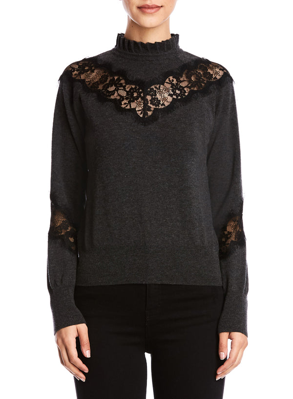 Bailey 44 - Flora Sweater - Anthracite/Black
