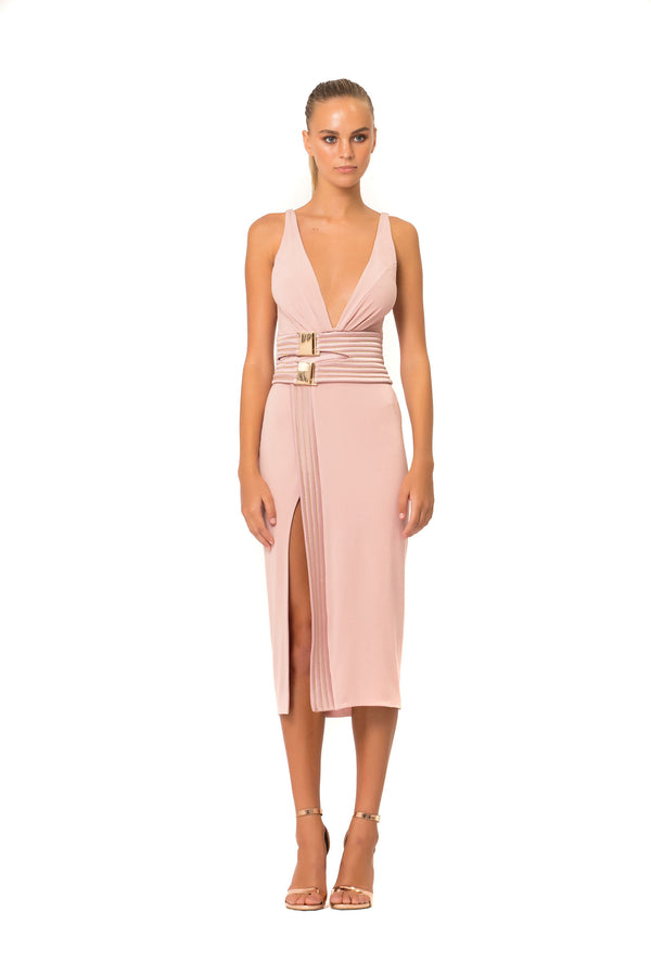 ZHIVAGO - LE LOFT JERSEY DRESS - BLUSH