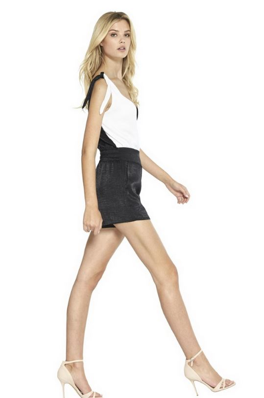 Misa - Giorgia Shorts - Black Satin