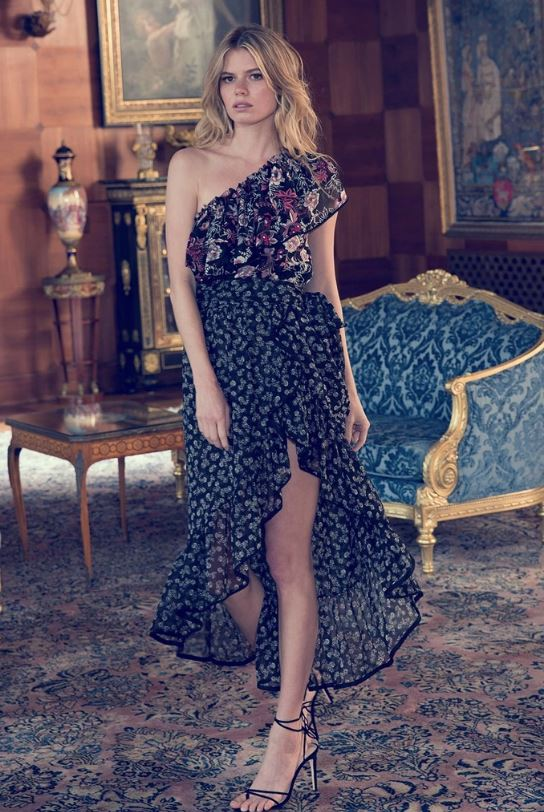 Misa - Gyada Dress - Black Floral