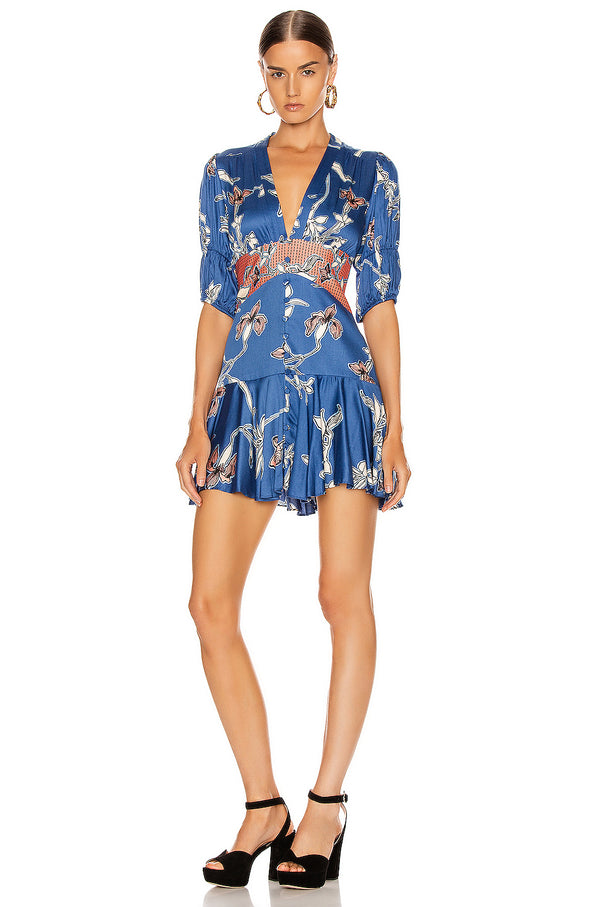 Alexis - Nari Dress - Royal Blue Orchid