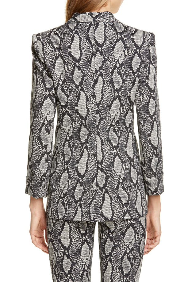 Alice & Olivia - Richie Snake Blazer - Black Multi