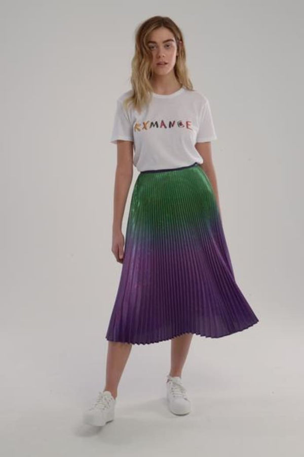 Delfi - Clara Skirt - Green/Purple Ombre