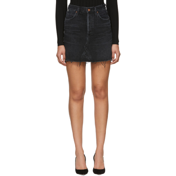 CITIZENS OF HUMANITY - ASTRID MINI SKIRT - DARK WASH