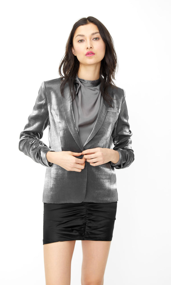 Generation Love - Fabien Satin Blazer - Gunmetal