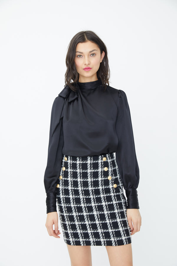 Generation Love - Adi Tweed Mini Skirt- Black/White
