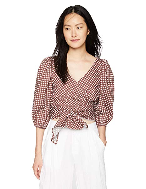 Show Me Your Mumu - Darlene Top - Chocolate Cake Gingham