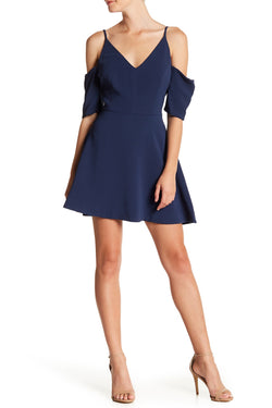 KEEPSAKE - SLOW MOTION MINI DRESS - FRENCH NAVY