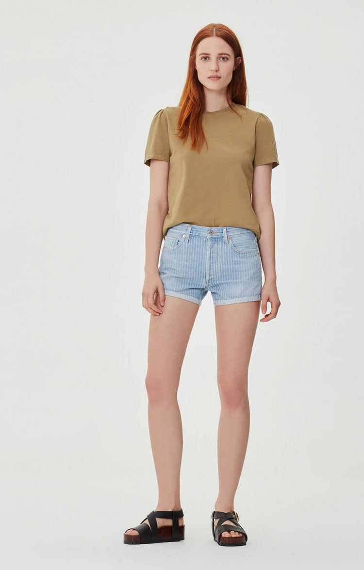 Citizens of Humanity - Bree Relaxed Short - Vintage Laguna Stripe