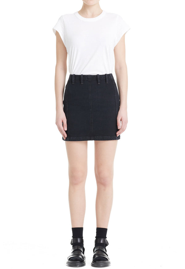 AGolde - Siouxise Zip Back Skirt - Asphalt
