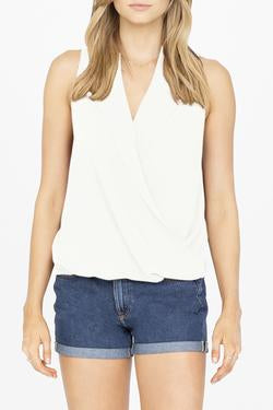 Amanda Uprichard - Sleeveless Leonard Top - Ivory