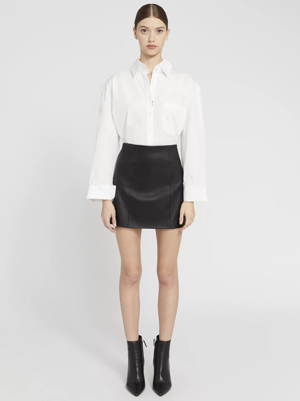 Alice + Olivia - Kenzie Leather Skirt - Black