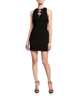 Cinq A Sept - Irene Lace-Up Dress - Black