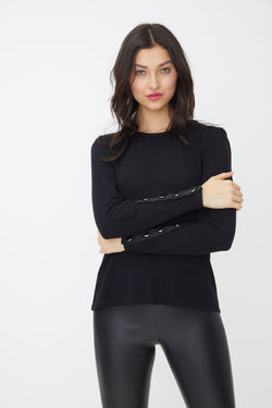 Generation Love - Bella Button L/S Top - Black