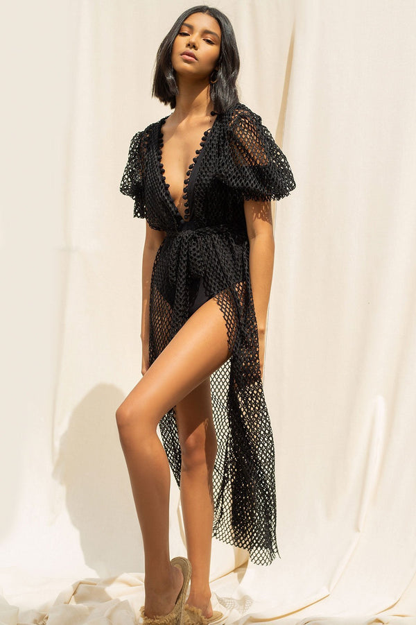 Ancora - Kimono Wildest Soiree - New Black