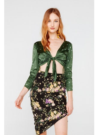 For Love & Lemons - Molly Drawstring Skirt - Floral