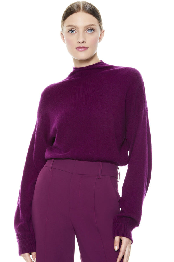ALICE + OLIVIA - Caprice Pullover - Boysenberry