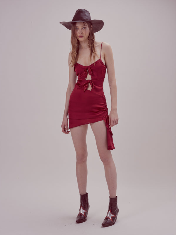 For Love & Lemons - After Dark Mini Dress - Red