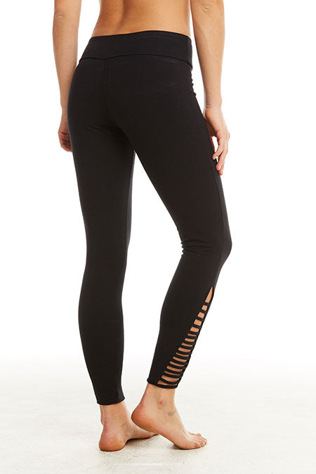 Chaser - Vent Side Leggings - True Black