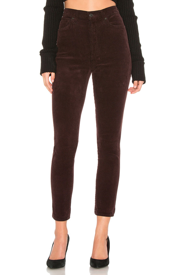 Citizens of Humanity - Olivia Corduroy Slim Ankle - Raisin