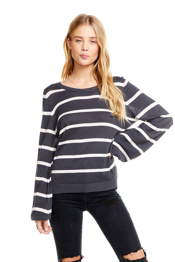 Chaser - Bishop sleeve pullover - avalon