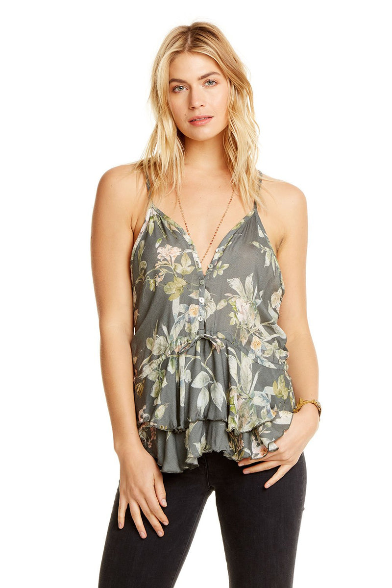 Chaser - Heirloom Button Down Cami - Floral