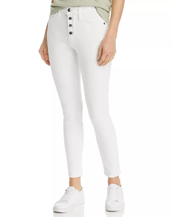 Frame - Le High Skinny Button Fly - Blanc Street