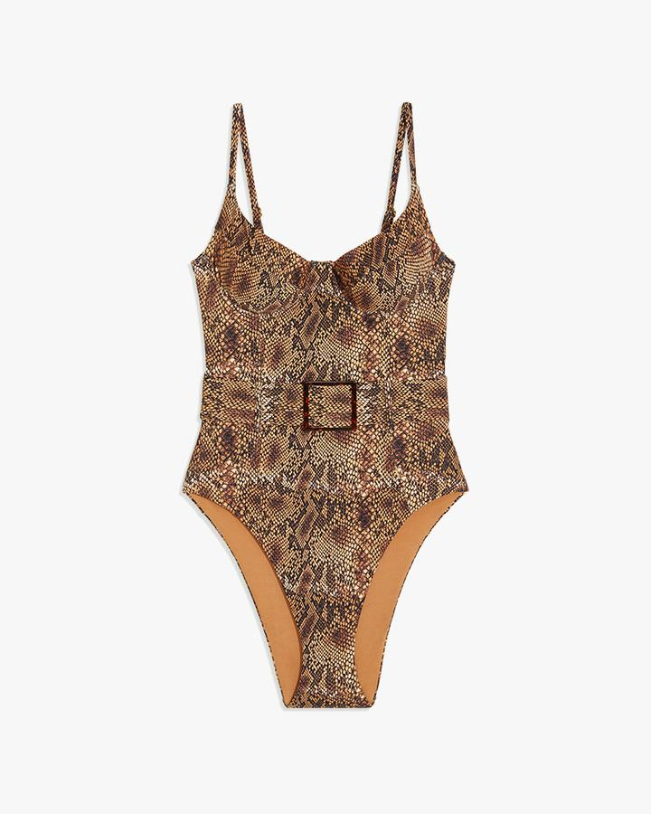 Shop WeWoreWhat - Danielle One Piece - Python