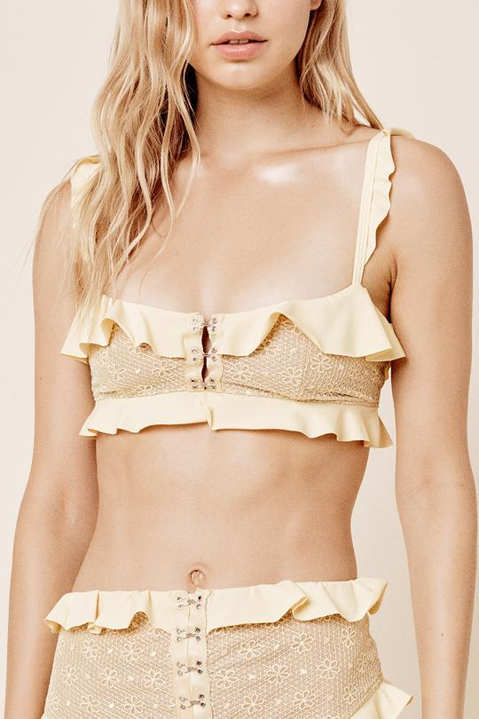 For Love & Lemons - Elle Lace Bandeau - Lemonade