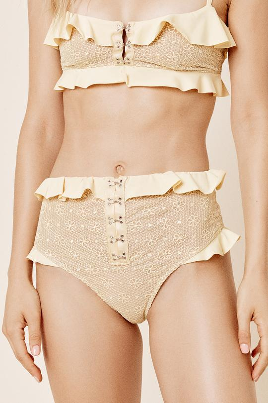 For Love & Lemons - Elle Hi Waist Bottom - Lemonade