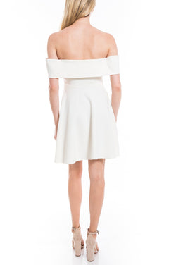 LIKELY - EMMET DRESS - WHITE
