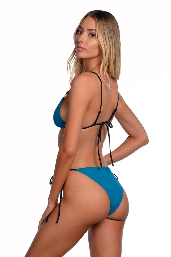 Kya Swim - Heatwave Bottom - Reversible Black/Teal