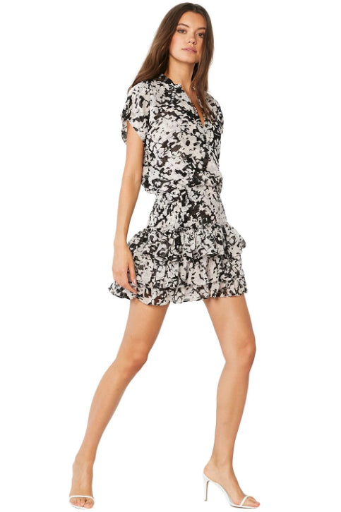 Misa - Eloisa Dress - Black Floral