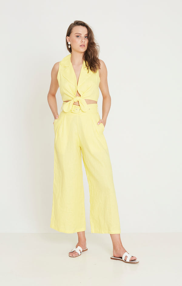 Faithfull The Brand - Fernanda Top - Plain Lemon