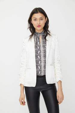 Generation Love - Fabien Satin Blazer - Off White