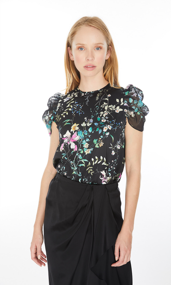 GENERATION LOVE - TESSA FLORAL BLOUSE - Black floral