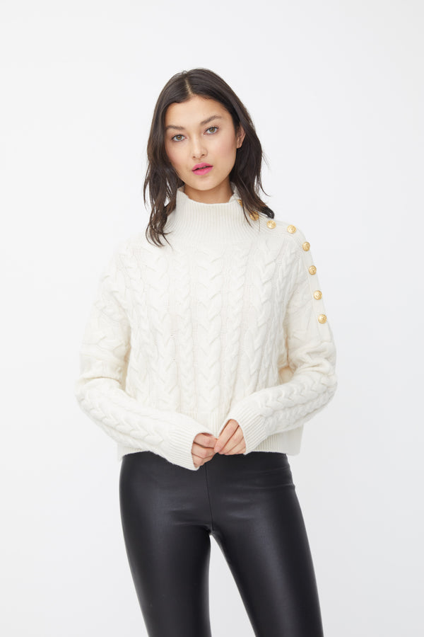 Generation Love - Lana Cable Knit Sweater - Off White