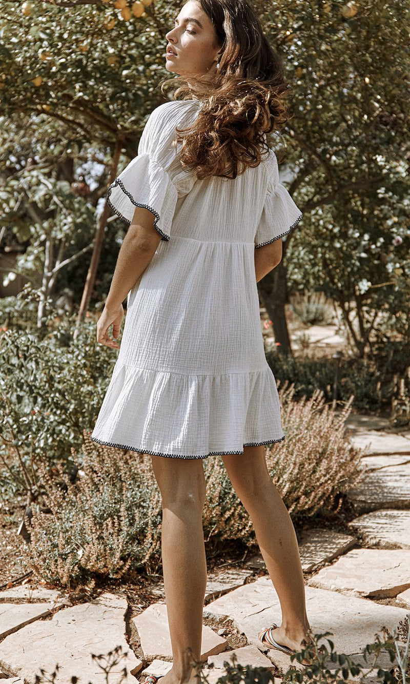 SAYLOR - HARRISON DRESS - WHITE