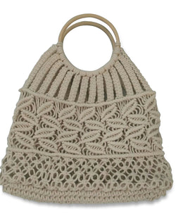 Hat Attack - Cotton Cord Bag - Ivory