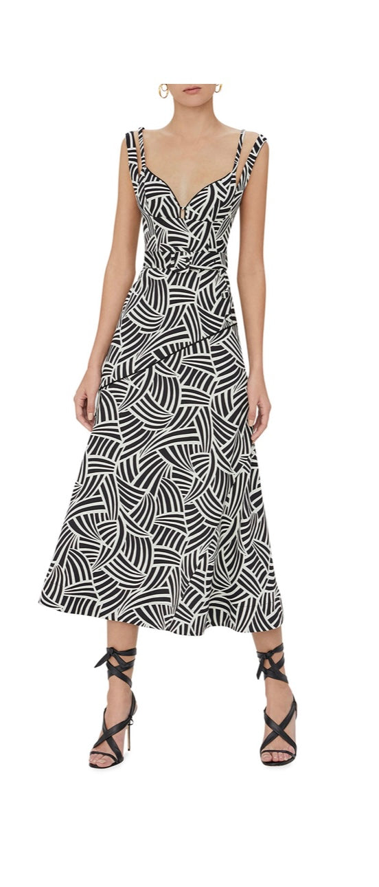 Alexis - Minasa Long Dress - Onyx Wave