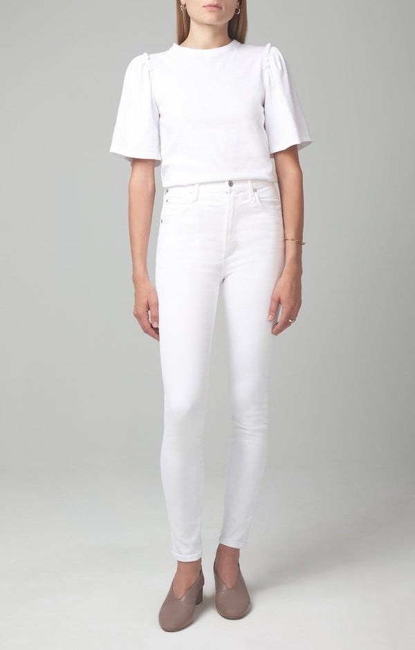 Citizens OF HUMANITY - CHRISSY HIGH RISE SKINNY FIT IN WHITE SCULPT
