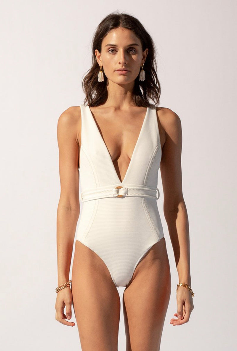 Suboo - Kaia Deep V One Piece Ivory