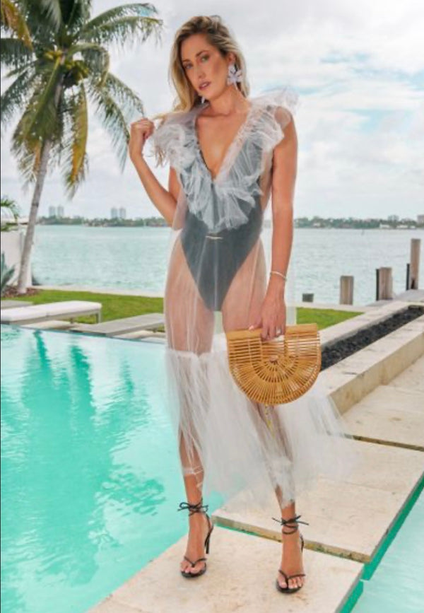 Diana Kassabov - Vacay Long Cover Up - White