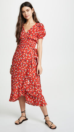 Faithfull The Brand - First Light Top - Red Jasmine Floral Print