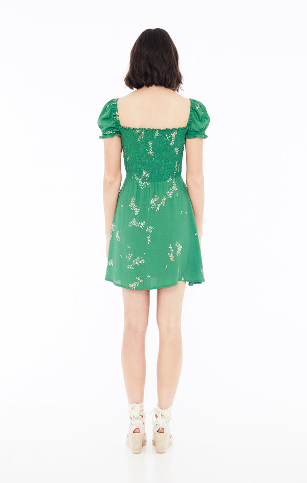 Faithfull The Brand - Genevieve Dress - Myrtille Green Floral Print